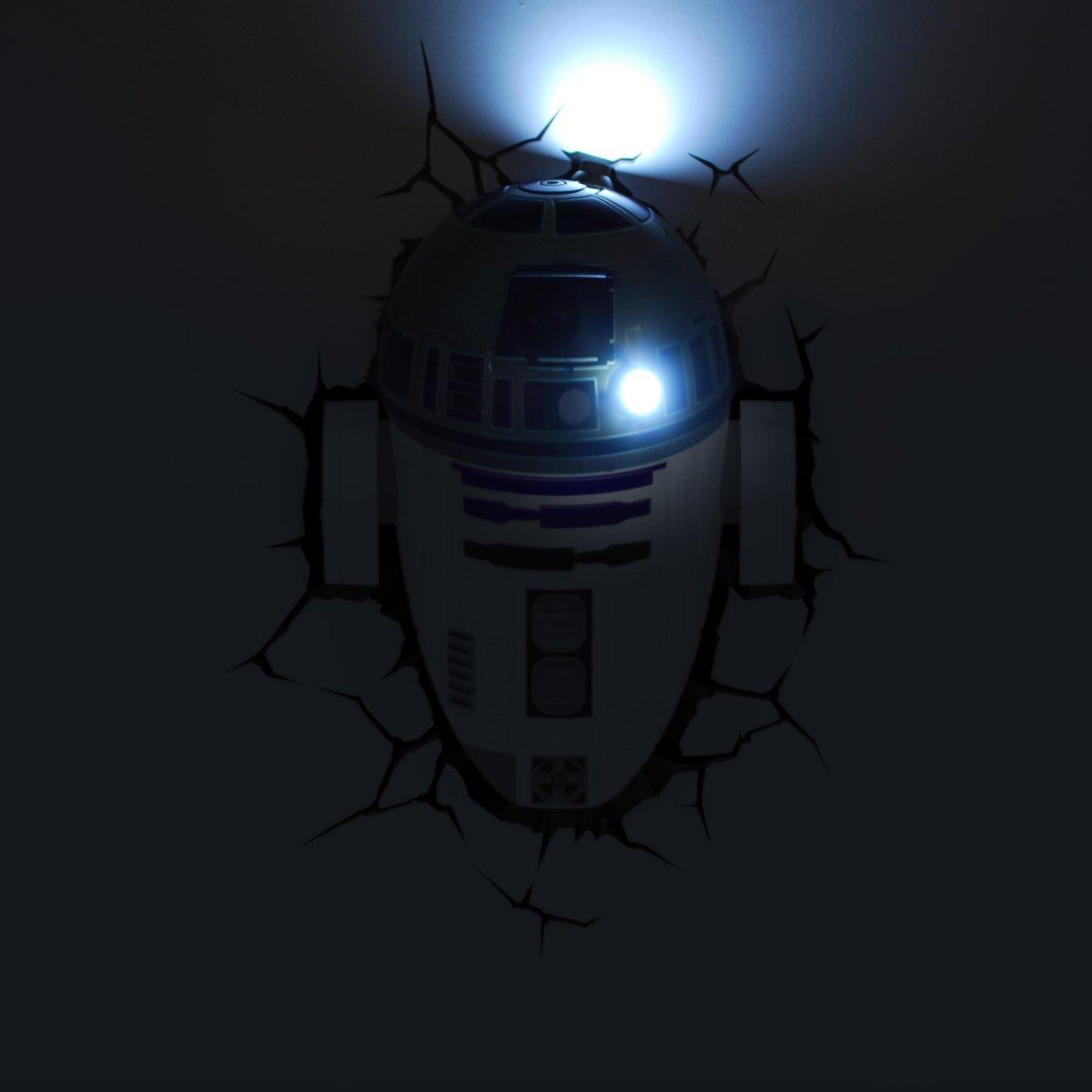 3DlightFX 3D Deco LED Wall Light Star Wars R2-D2 at Barnitts Online Store, UK