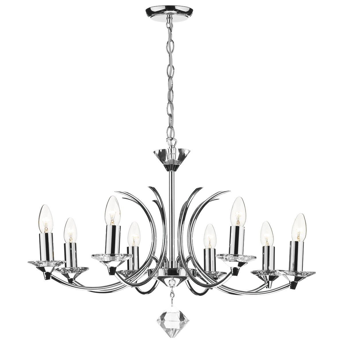 dar medusa 8 light dual mount pendant k9 crystal polished chrome at barnitts online store  uk