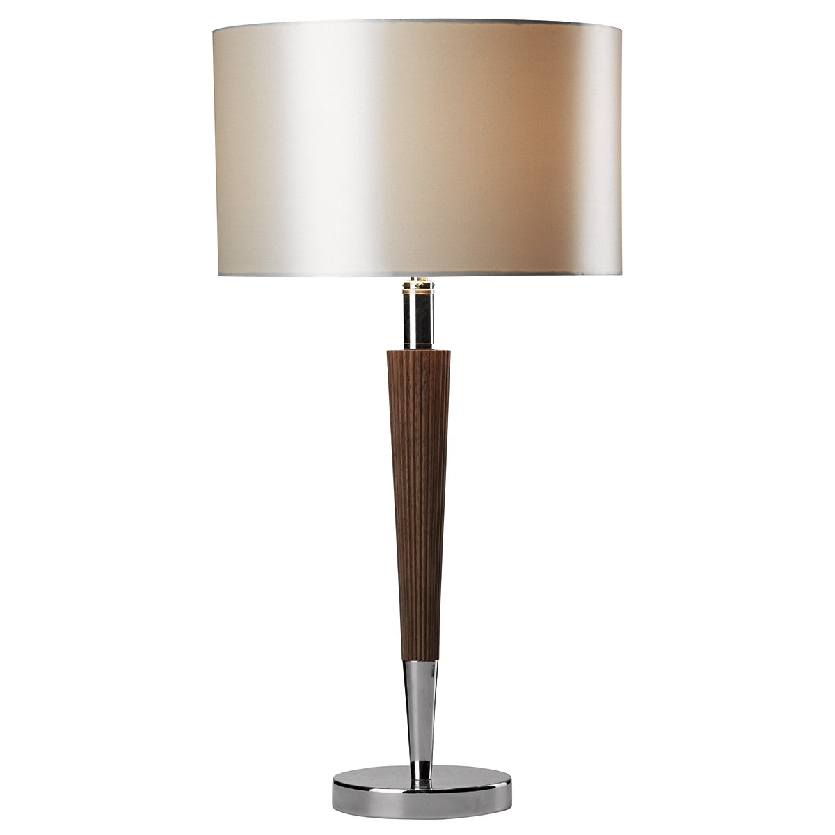 dar viking table lamp polished chrome dark wood complete with cream linen shade at barnitts. Black Bedroom Furniture Sets. Home Design Ideas