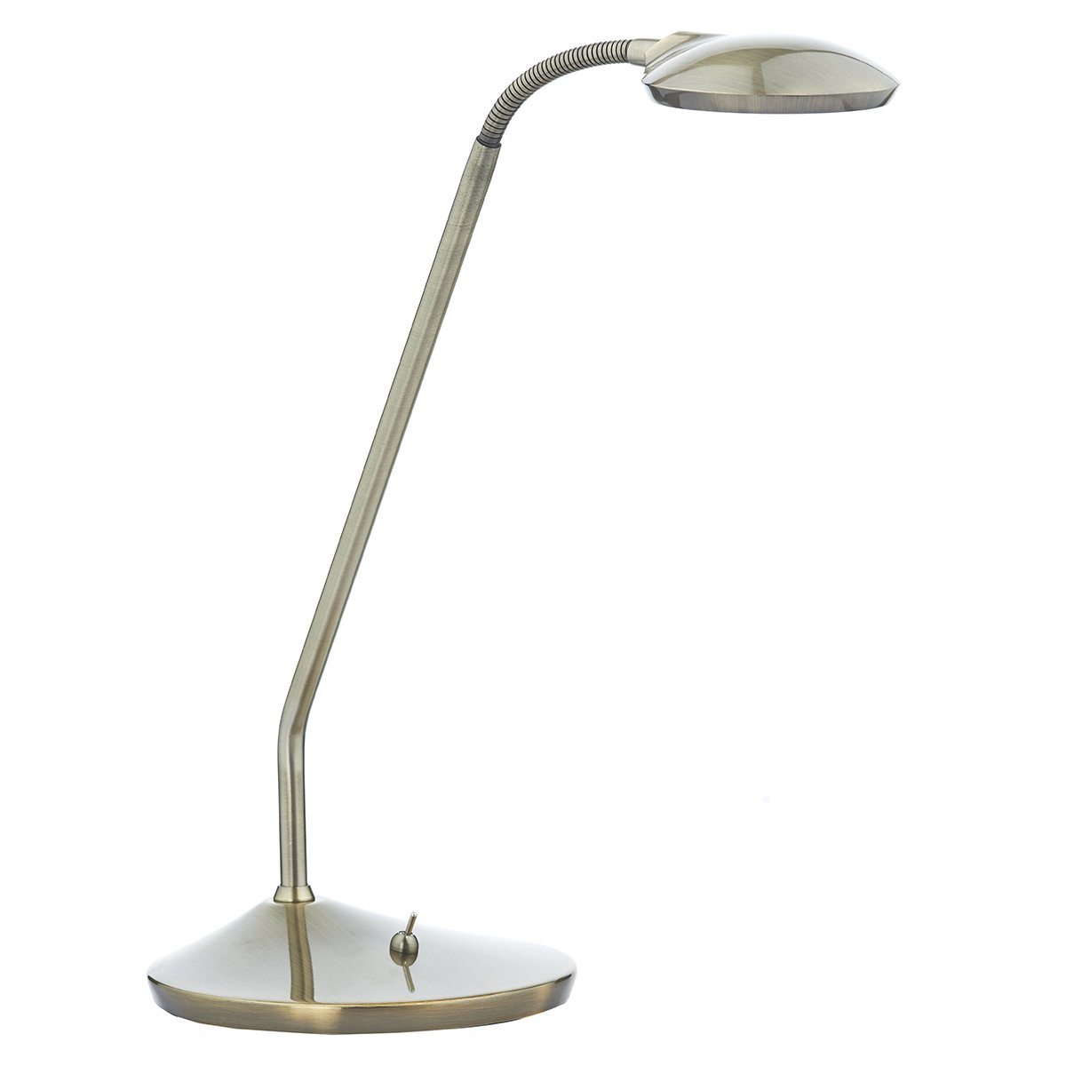 Dar Wellington Table Lamp Antique Brass Led At Barnitts