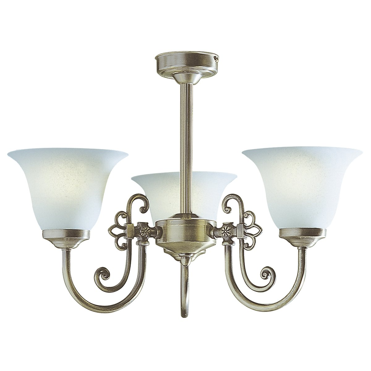 Dar Woodstock 3 Light Antique Complete With Glass At