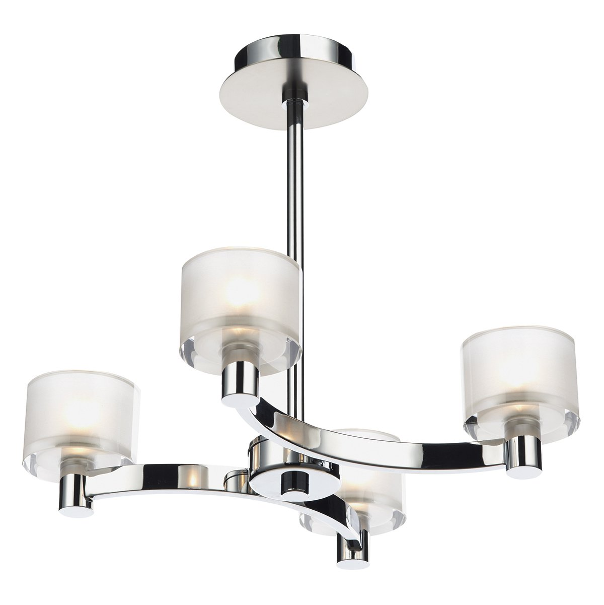 Dar Eton 4 Light Semi Flush Ceiling Light In Polished