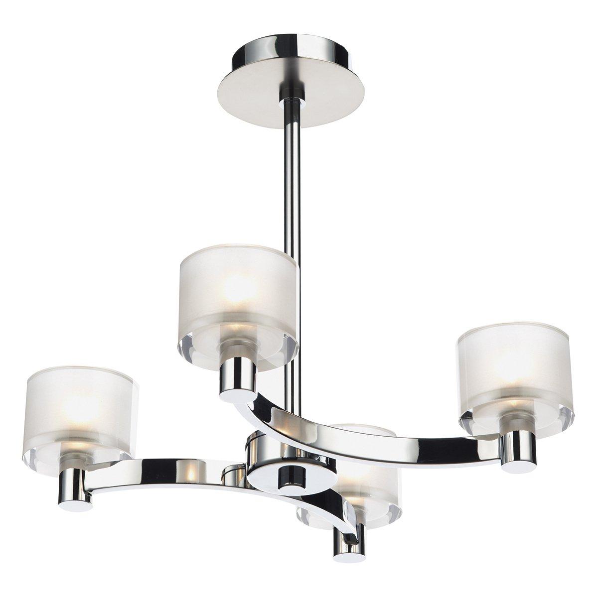 Dar Eton 4 Light Semi Flush Ceiling Light In Polished