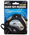 Pro User 5m X 19mm Silver Tape Measure
