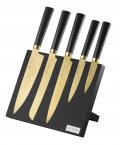 Viners Titan 6 Piece Knife Block Gold