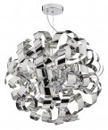 Dar Rawley 9 Light Pendant Polished Chrome