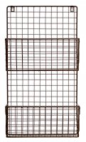 Garden Trading Farringdon Magazine Rack in Charcoal - Wirework