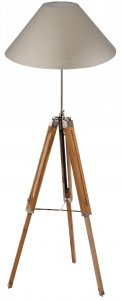 Pacific Lifestyle Harper Natural Wood Tripod Floor Lamp