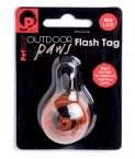 Petface Outdoor Paws Flash Tag - Red