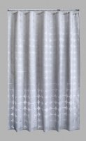 Aqualona PEVA Shower Curtain - Aztec Grey