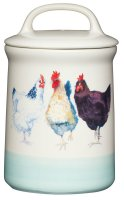 KitchenCraft Apple Farm Ceramic Hen Tea Storage Jar