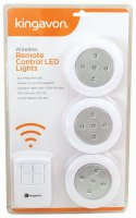Kingavon Wireless Remote Controll LED Lights Pack of 4