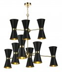 David Hunt Hyde 18 Light Pendant with Black Metal Shade
