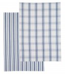 Kitchen Craft Classic Flat Woven Navy Jacquard Tea Towels Set of 2
