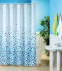 Blue Canyon Mosaic Polyester Shower Curtain 180cm x 180cm Blue