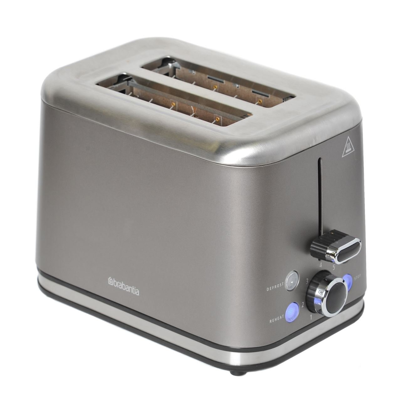 Brabantia 2 Slice Toaster In Brushed Stainless Steel