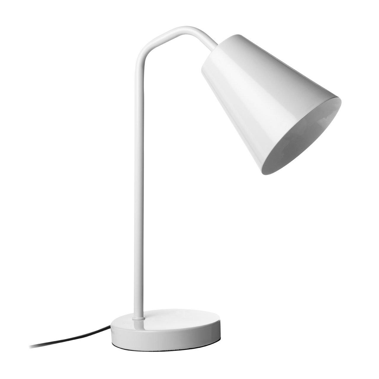 Modern White Metal Desk Lamp At Barnitts Online Store Uk Barnitts