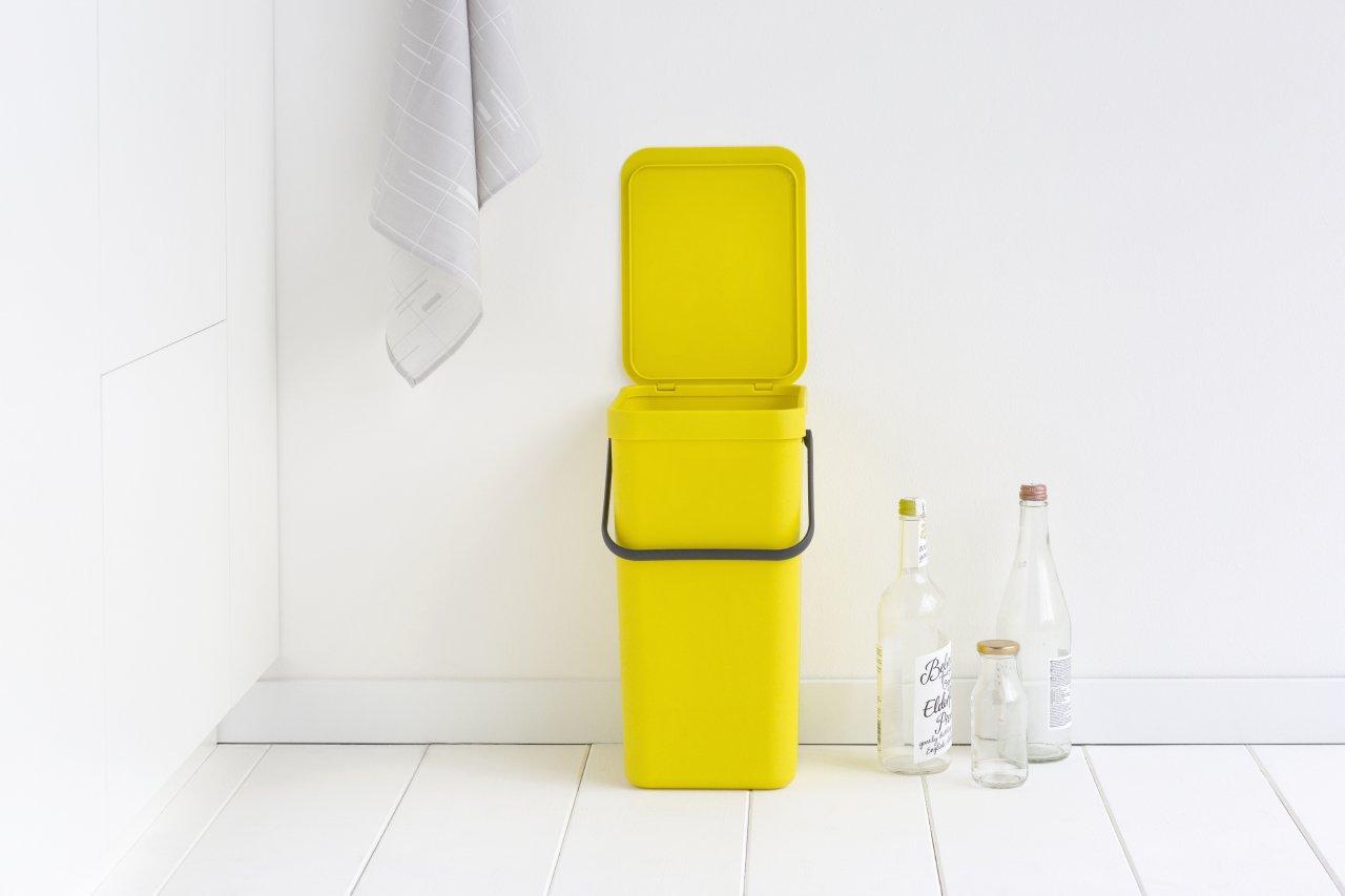 Brabantia Sort Amp Go 16 Litre Waste Bin In Yellow At