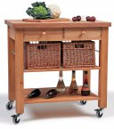 Hungerford Trolleys The Lambourn 2 Drawer Kitchen Trolley