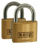 Kasp Premium Brass Padlock 25mm Pack Of 2