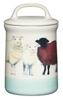 KitchenCraft Apple Farm Ceramic Sheep Coffee Storage Jar