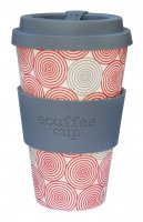 Ecoffee Cup 14oz Swirl with Grey Silicone
