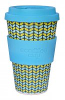 Ecoffee Cup 14oz Norweaven with Aqua Silicone