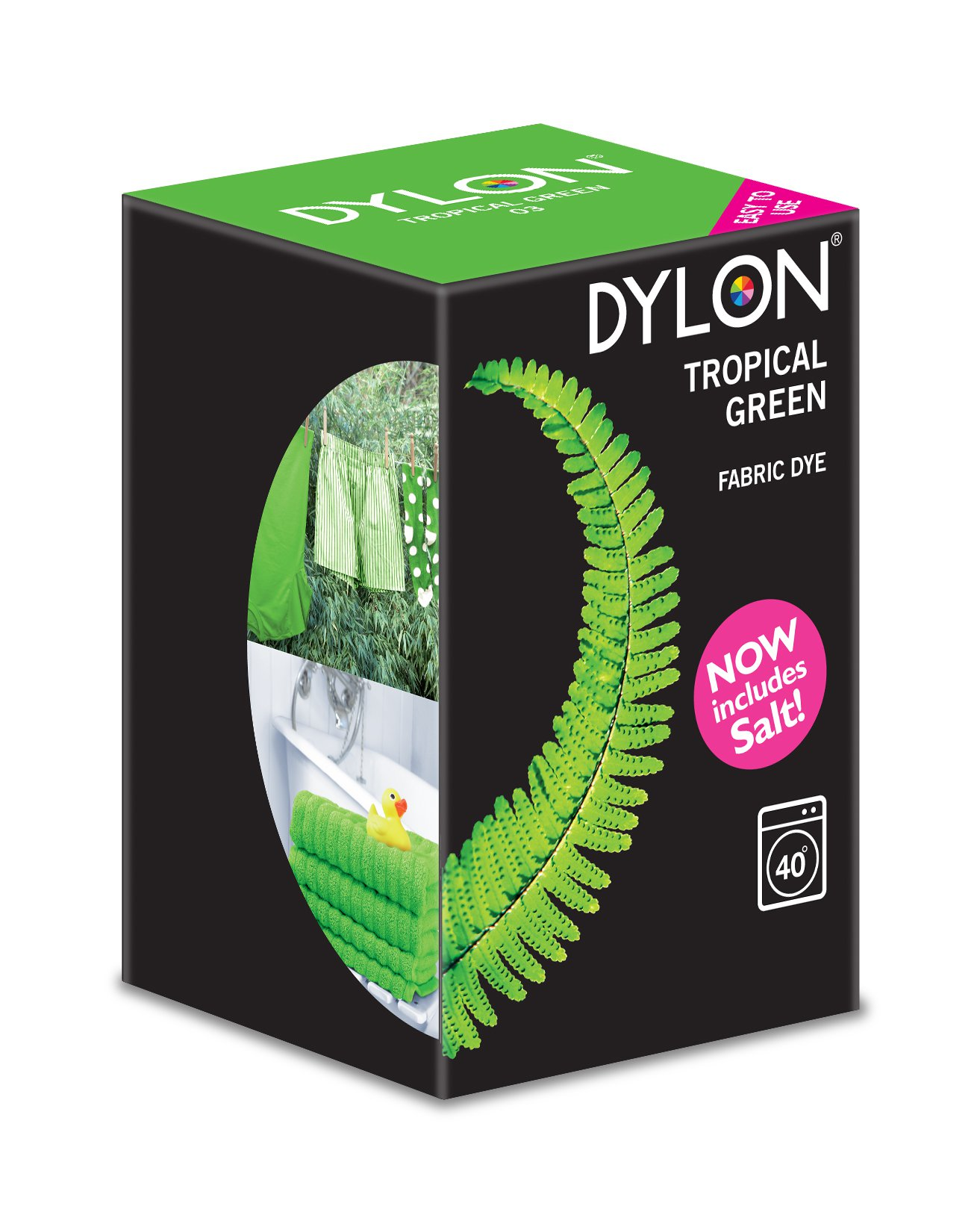 Dylon Fabric Dye For Machine Use Tropical Green At
