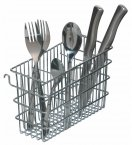 Kitchen Craft Hook Over Cutlery Draining Basket, 20cm x 12cm x 8cm