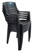 Trabella Parma Stack Chair Anthracite Pack of 4
