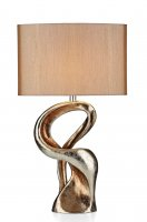 Dar Alchemy Table Lamp Gold Resin Complete with Shade