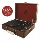 GPO Attaché Record Player Vintage Brown