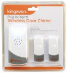 Kingavon Plug In Wireless Door Chime with Front & Back Doorbell
