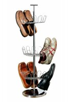 Premier Tower 3 Tier 18 Pairs Chrome Shoe Rack