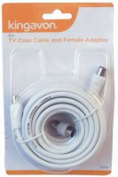 Kingavon 5m TV Coax Cable and Female Adaptor