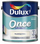 Dulux Once Satinwood Pure Brilliant White 2.5 Litre