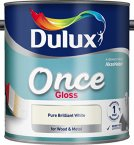 Dulux Once Gloss Pure Brilliant White 2.5 Litre