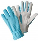 Briers Super Soft and Strong Leather Gardening Gloves Sky Blue