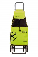 Rolser Mountain Thermo MF 4 Wheel Shopping Trolley with Freezer Compartment in Green/Black