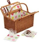 Coolmovers Sherbet Fitted Picnic Basket for 2 Persons,