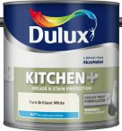 Dulux Kitchen+ Matt Emulsion Pure Brilliant White 2.5 Litre