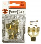 X Brass Picture Hooks No. 4