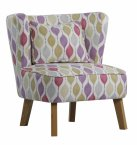 XYZ Marle Occasional Chair in Retro Blush - Choice of Legs