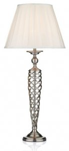 Dar Siam Table Lamp with Shade Satin Chrome