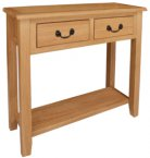 Kansas Oak 2 Drawer Console Table