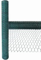 Green Blade 10m x 0.9m x 25mm PVC Coated Galvanised Wire Netting