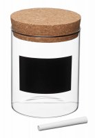 KitchenCraft Natural Elements Small Glass Storage Canister 10cm x 13cm