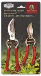 "Kent & Stowe Traditional Bypass 8"" & Garden Life Secateurs 6.5"