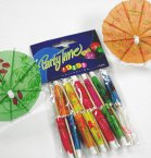 NJ Products Cocktail Parasols (Pack of 12)