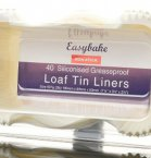 Easybake Loaf Tin Liners 0.908kg/2lb (Pack of 40)